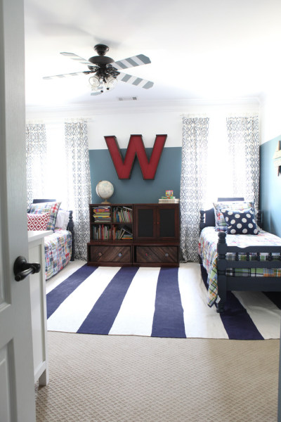 Shared kids room ideas from pinterest for Bedroom ideas for 3 year old boy