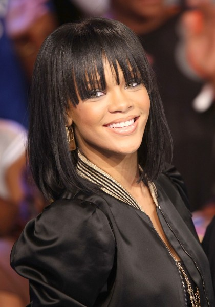 Peachy Rihanna Hairstyles Bob Haircut Makes Its Debut On 39Ellen39 Today Com Short Hairstyles For Black Women Fulllsitofus