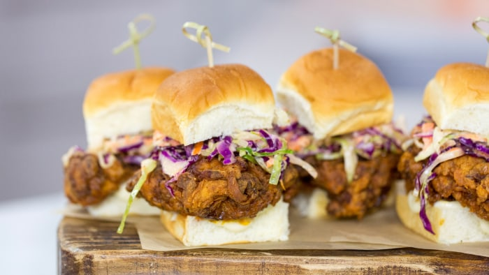Jeff Mauro's recipe for spicy fried chicken sandwiches