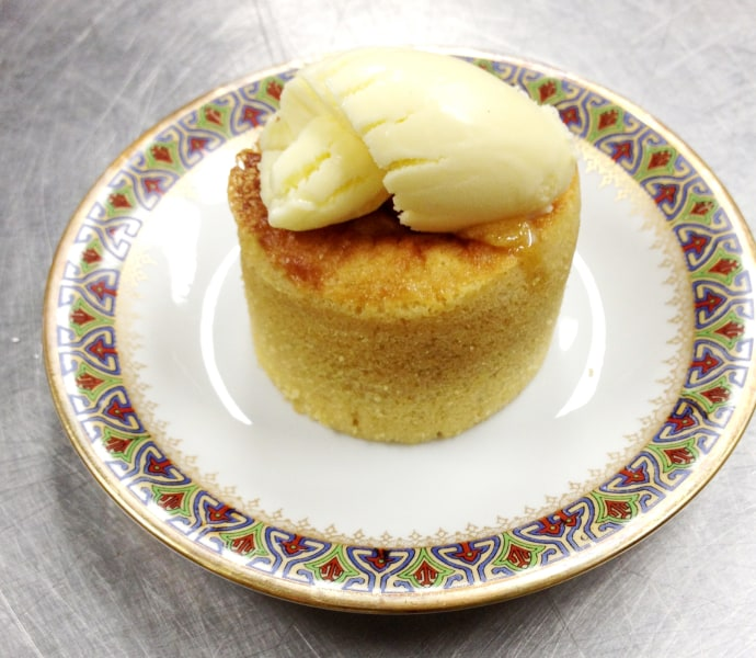Molten Maple Lava Cakes: Serve immediately with vanilla ice cream