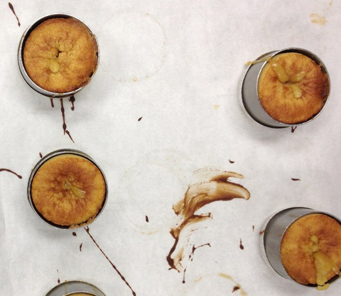 Molten Maple Lava Cakes: Bake for 12 minutes until golden