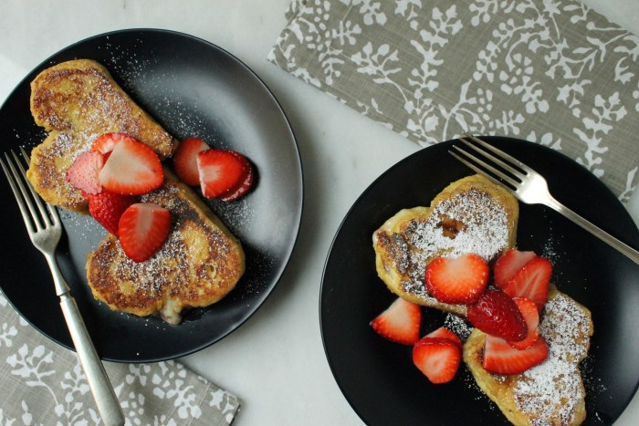 Strawberry and Cream Stuffed French Toast