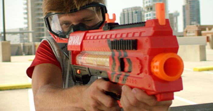 hide your kids  new nerf gun model is automatic  fires at 68 mph