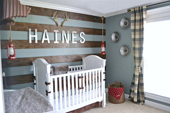 Boy nursery ideas from pinterest for Cool boy nursery ideas