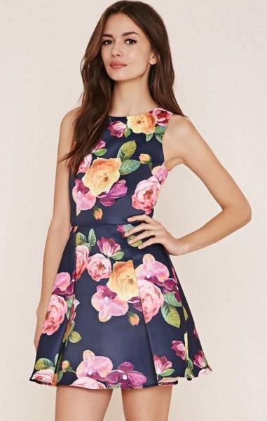 blue floral dress forever 21
