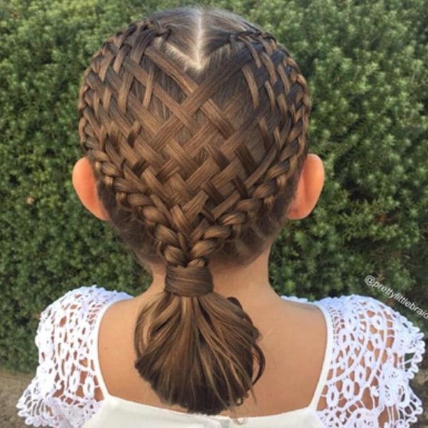 Prime Mom Creates Beautiful Intricate Braids In Daughter39S Hair Today Com Short Hairstyles Gunalazisus