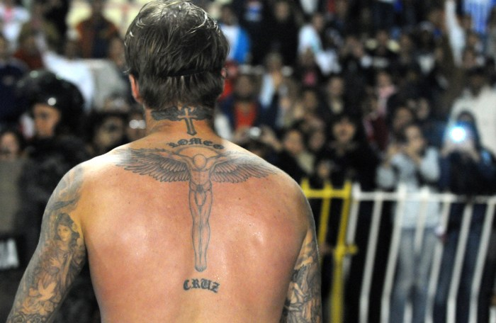 Leave ben and adam alone a case for the male back tattoo for David beckham back tattoo