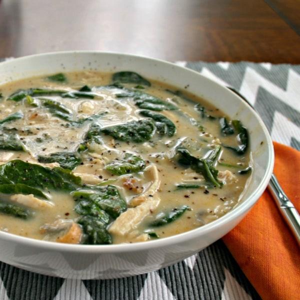 Slow-Cooker Creamy Chicken Florentine Soup