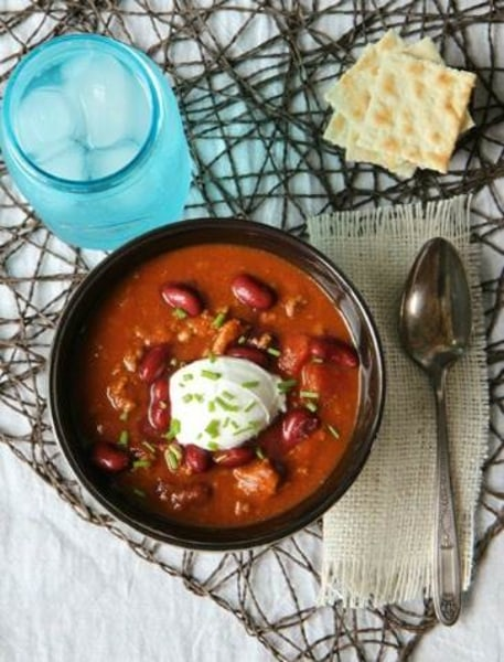 Slow-cooker pumpkin chili recipe by Mom Advice