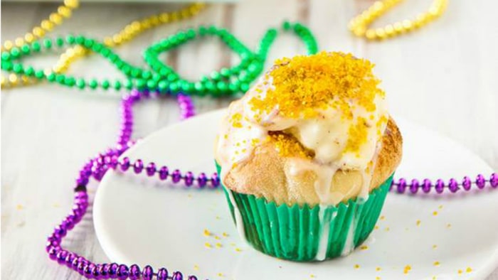 King Cake Cupcakes by The Brewer & The Baker