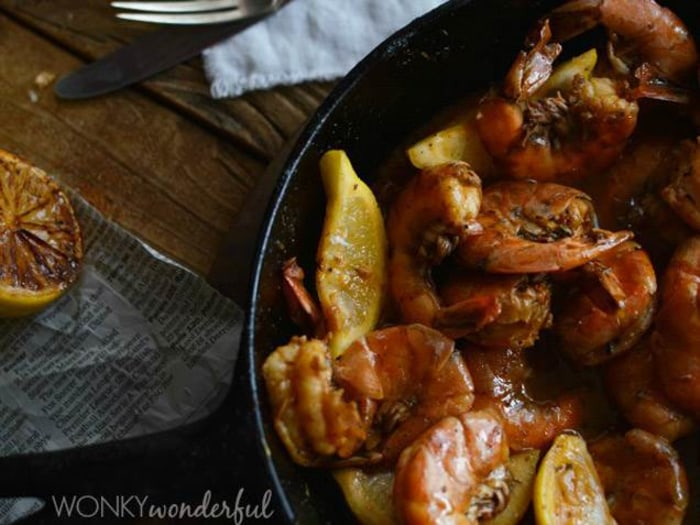 New Orleans-style barbecue shrimp by Wonky Wonderful