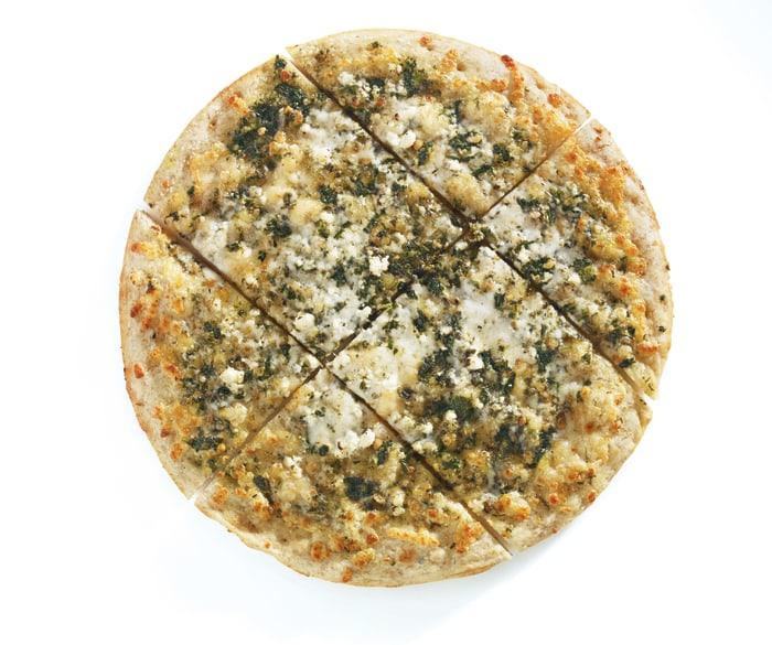 American Flatbread frozen basil, pesto and feta pizza