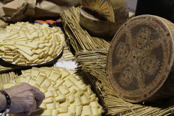 A platter of Challerhocker cheese from the Cheesemonger Invitational in Long Island City, N.Y. on June 23, 2012.