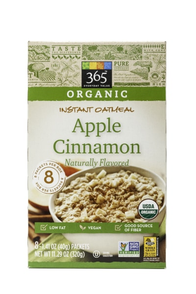 Whole Foods 365 Everyday Apple Cinnamon Instant Oatmeal