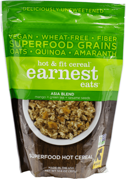 Earnest Eats Hot & Fit Cereal Asia Blend