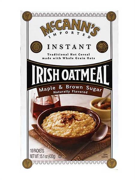 McCann's maple and brown sugar instant oatmeal
