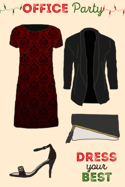 long dress holiday party background