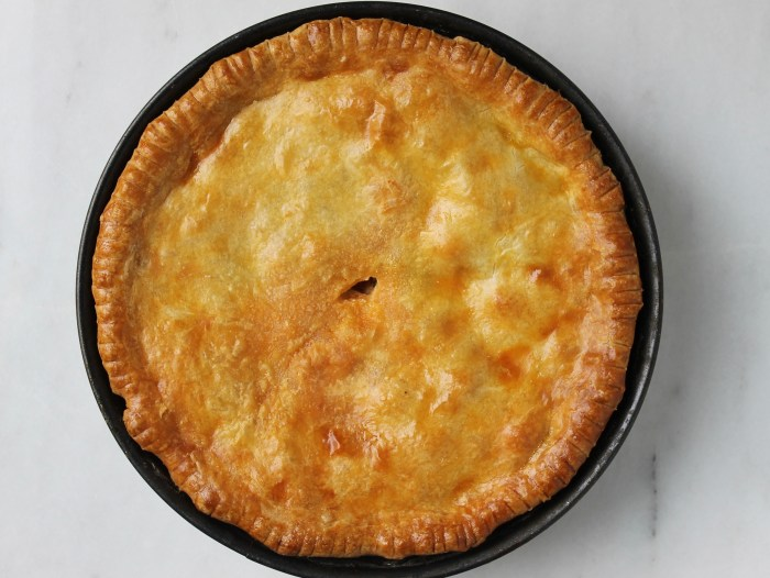 Pizza Rustica: Bake until the top is golden and the filling is bubbling