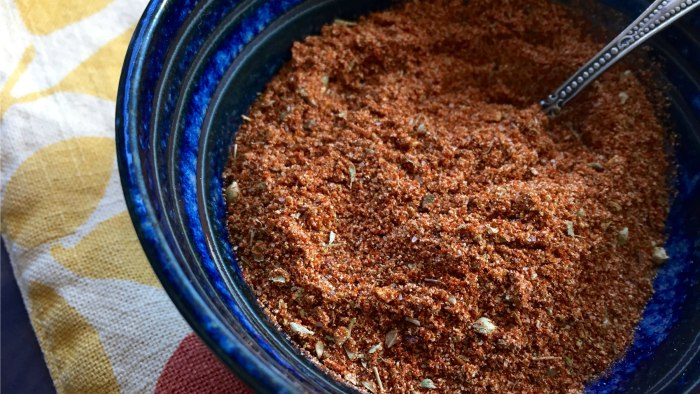 Homemade taco and chili seasoning spice mix