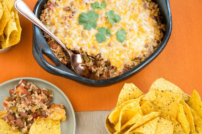 Vegetarian taco bake/casserole
