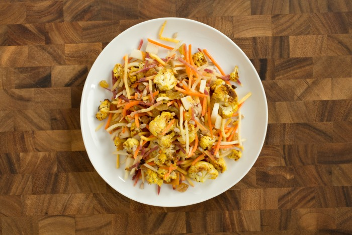 Curried cauliflower slaw