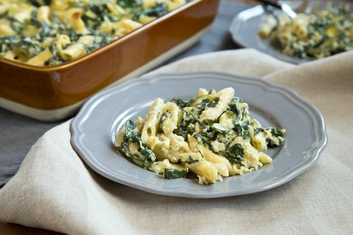 Spring vegetable pasta bake