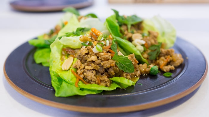 Ryan Scott's recipe for P.F. Chang's-style lettuce wraps with ground pork and chicken
