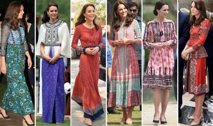 How To Get Duchess Kate S Look From Her India And Buhtan
