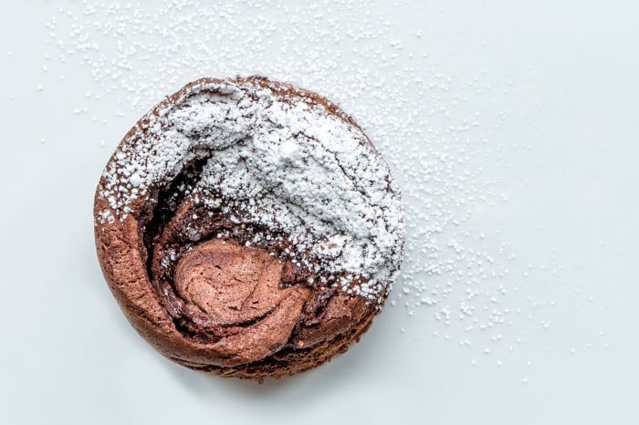 6-Ingredient Chocolate Ganache Soufflé Cake