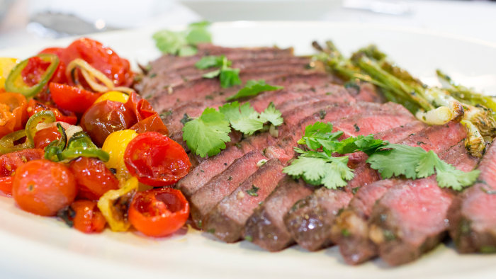 Marcela Valladolid's recipe for 20-minute Cilantro-Broiled Steaks with Jalape?o Salsa