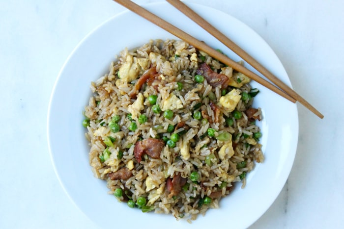15-Minute Bacon and Egg Fried Rice