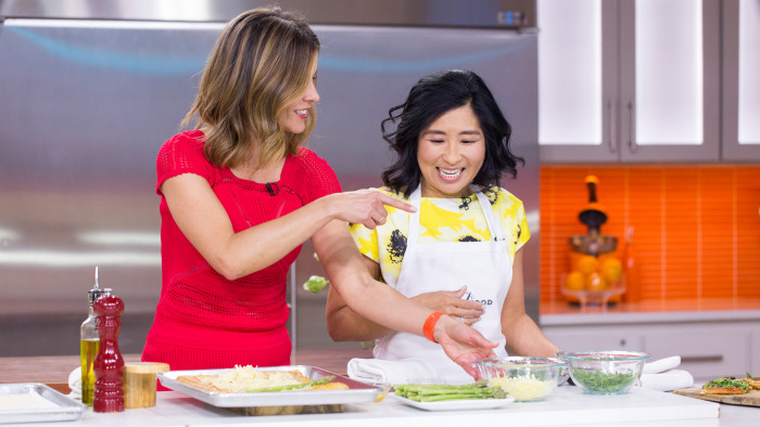 Alice Choi whips up a simple asparagus gruyere tart that is perfect for spring