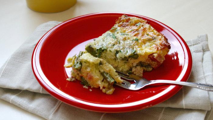 Eat asparagus for breakfast with an asparagus and ham frittata