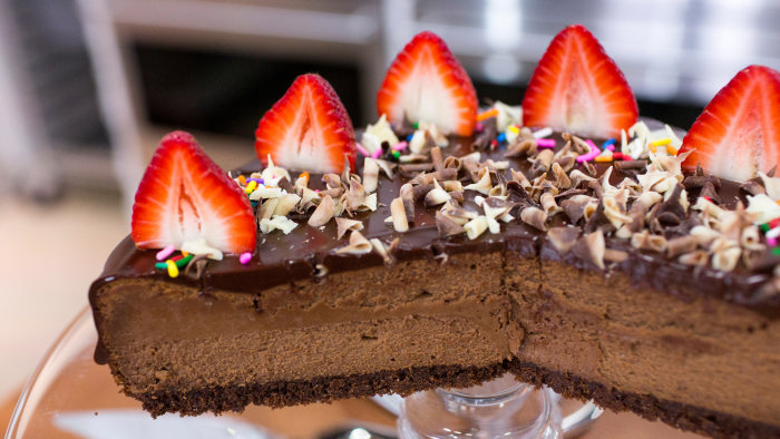 Donatella Arpaia's recipe for a delicious chocolate cheesecake