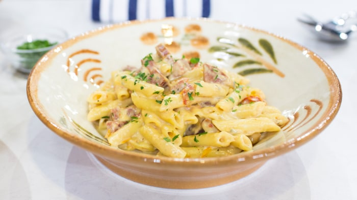 Randy Altig's recipe for pasta with salami and cheese