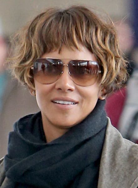 Halle Berry Short Hairstyles oscar makeup secrets get halles shimmering look halle berry hairstyleshairstyles short Ryan Turgeon Splash News Halle Berry
