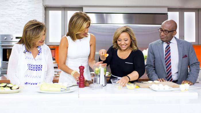 Al Roker and Hoda Kotb cook up family-favorite recipes like avocado deviled eggs and 5-ingredient pesto chicken