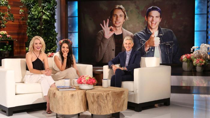 Bad Moms Stars Kristen Bell And Mila Kunis Get Mothers Day Surprise On Ellen -1188