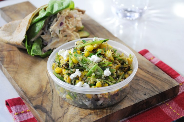 Chef Ryan Scott makes a snap pea, charred corn and quinoa salad that's perfect for summer picnicking