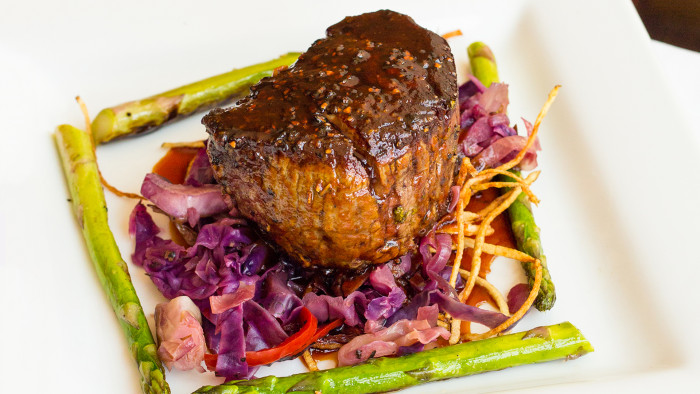 Tim Love's Easy Garlic-Stuffed Grilled Steak