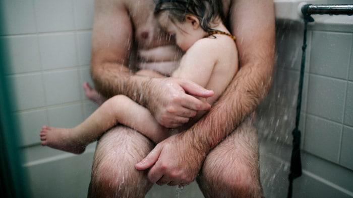 Thomas Whitten with sick son
