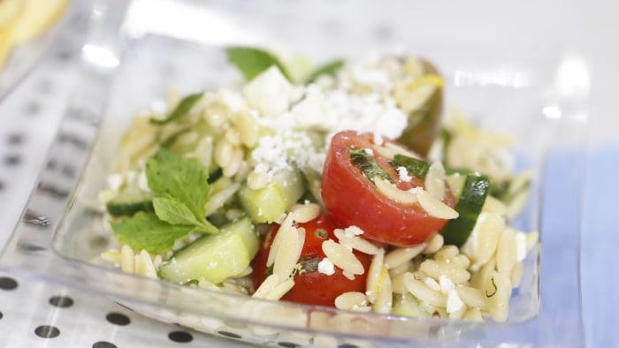 Al Roker's orzo pasta salad