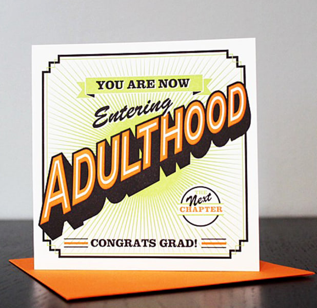 Adult college gift graduation