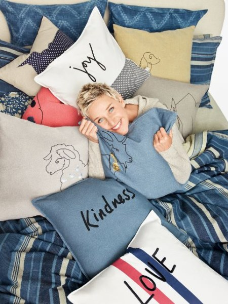 Ellen Degeneres Launches New Bedding Collection With Bed