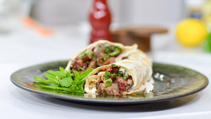 Aarti Sequeira cooks up Flank Steak Shawarma