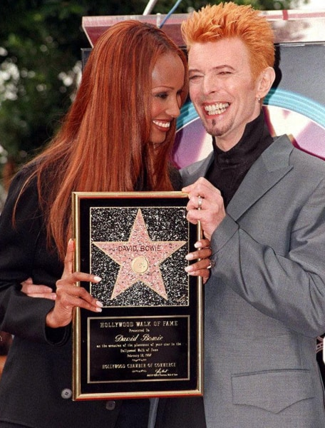 iman shares sweet photo on anniversary with david bowie. Black Bedroom Furniture Sets. Home Design Ideas