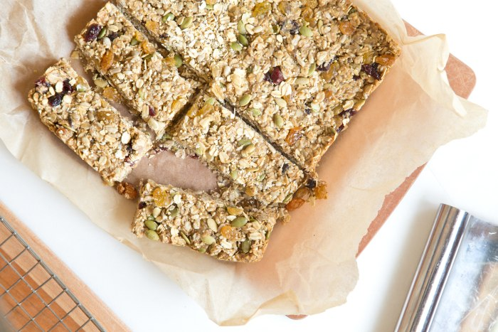 Nut-Free Energy Bars: Cut into 10 pieces