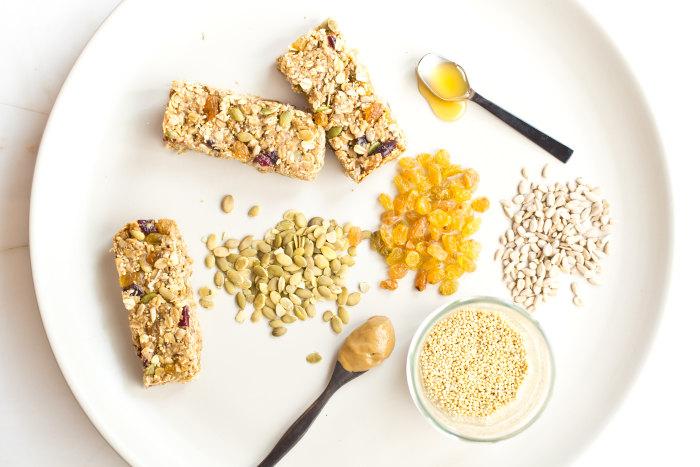 Nut-Free Energy Bars: Ingredients