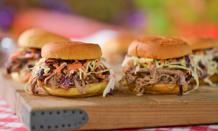 BBQ master Pat Martin makes homemade pulled pork sandwiches
