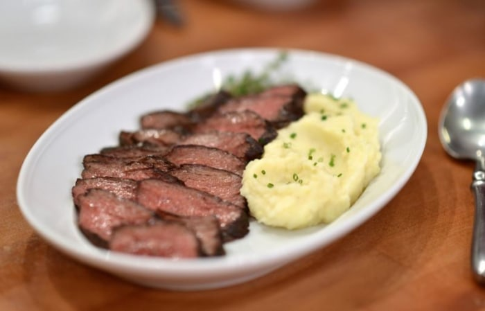 Joel Gamoran makes Father's Day hanger steak and brown butter mashed potatoes